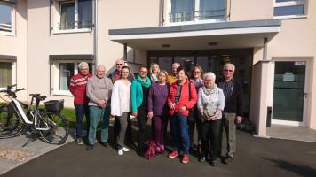 Die 60Plus-Delegation mit dem Führungsteam vom Haus Lohrtal