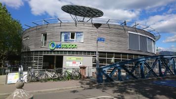 Das Fahrradparkhaus am Bahnhof