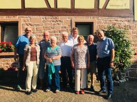 Der neue 60Plus-Vorstand des Unterbezirks MSP/MIL. V.l.n.r.: P. Fleischmann, U. Schweickert J. Schweickert, H. Fels, W. Geist, H. Schneider, R. Hoheisel, H. Aull und W. Baur