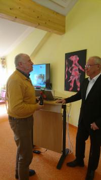 Werner Baur bedankt sich bei unserem Gastgeber für den interessanten Vortrag