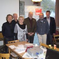 60Plus UB-Vorstandswahlen in Lengfurt am 13.11. 2013 mit Uwe Lambinus (2.v.r.)