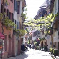 """Altstadtgasse mit """"Bächle"""" in Freiburg"""