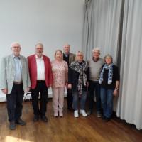 Unsere Delegierten mit Angelika Graf, Bertram Hacker und Peter Dlugosch